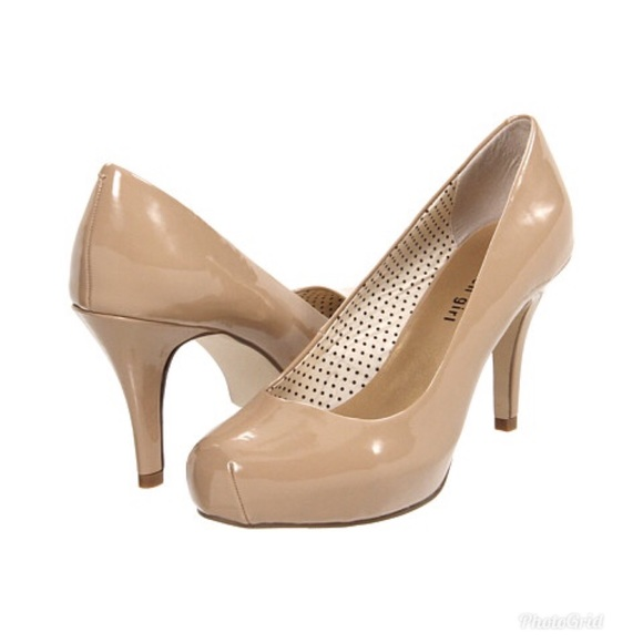 Madden Girl Getta Patent Nude Stacked